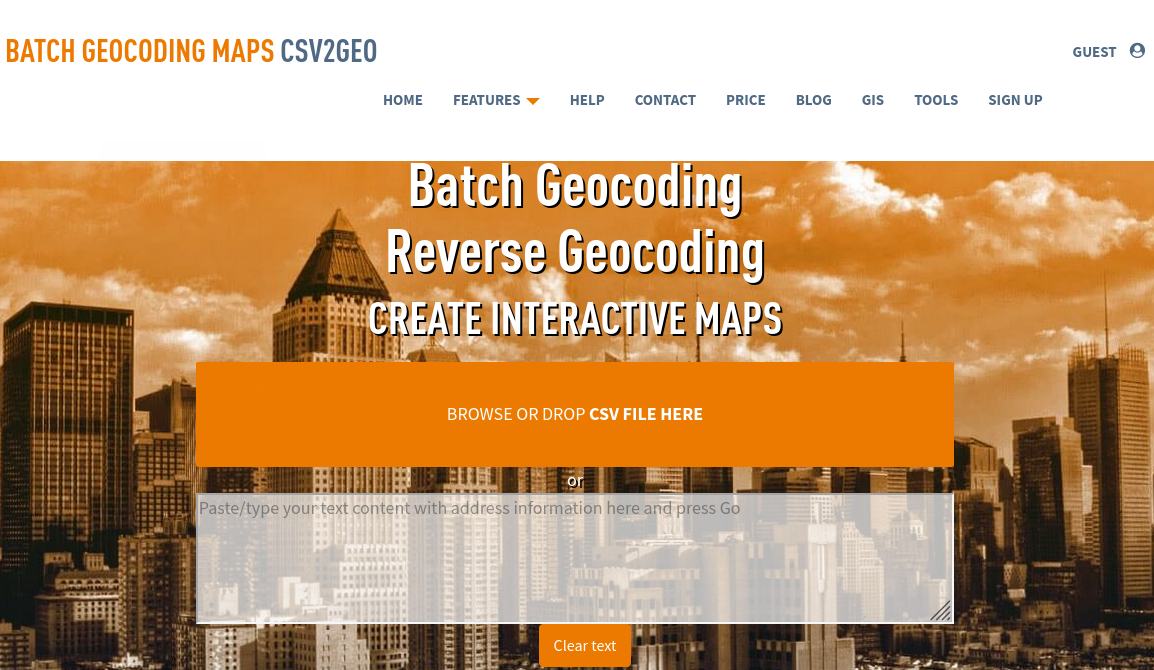 input csv file into batch geocoder
