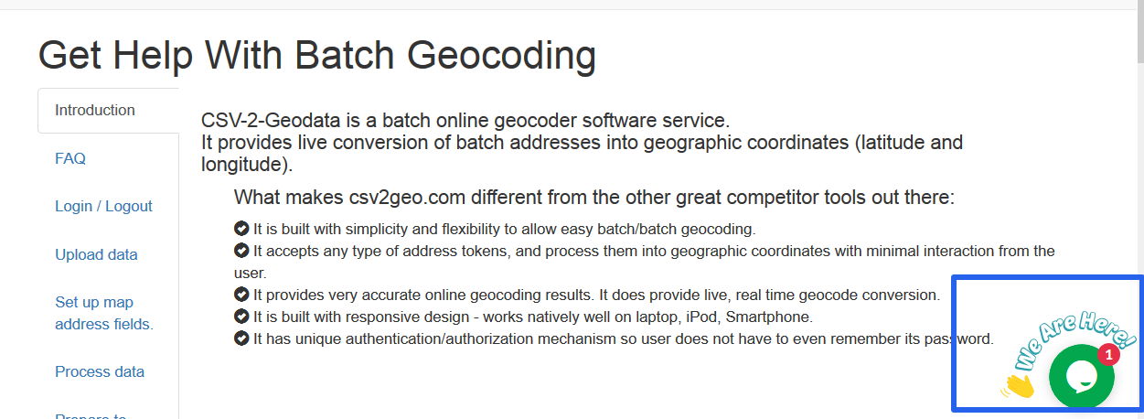 Get Help With Batch Geocoding