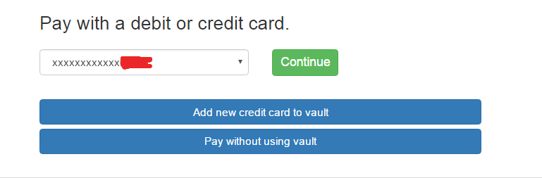 type credit card number here